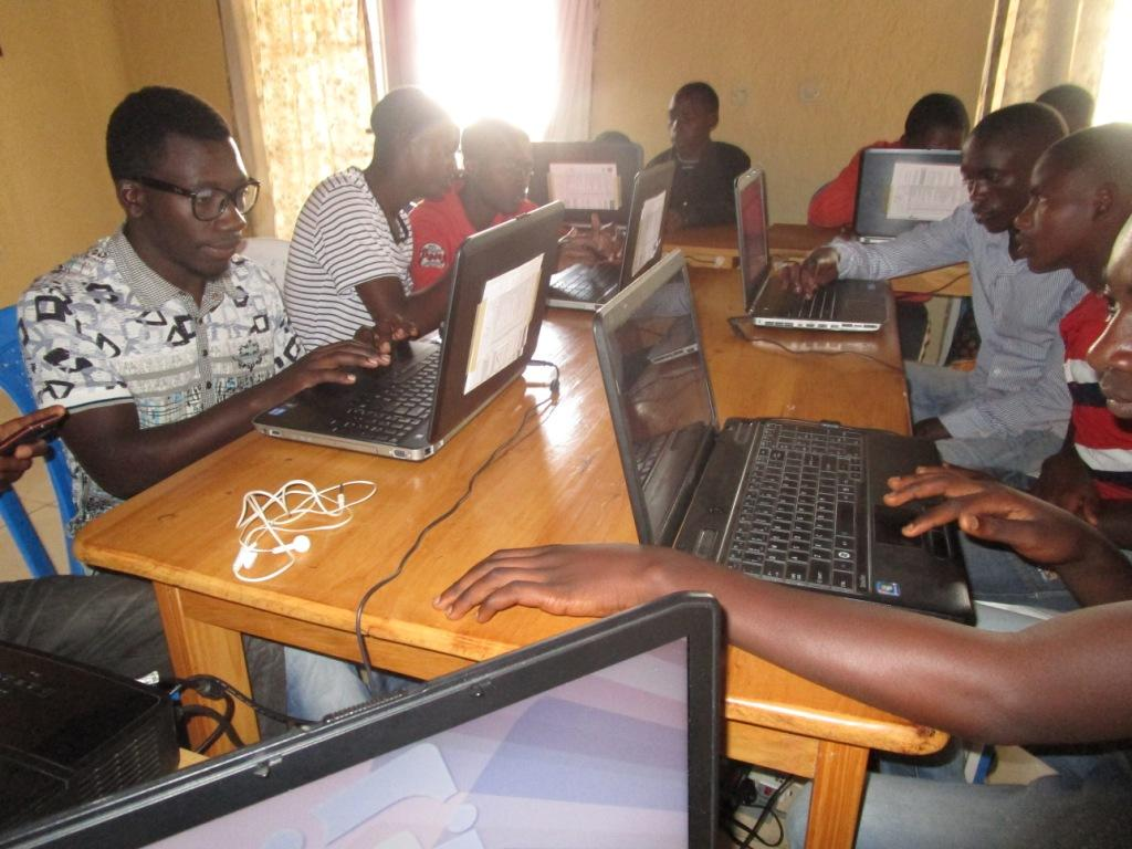 Students in Rwanda using computers initially obtained from PCs for People